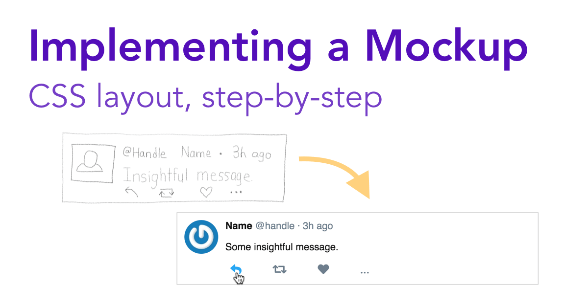 Implementing a Mockup: CSS Layout Step by Step