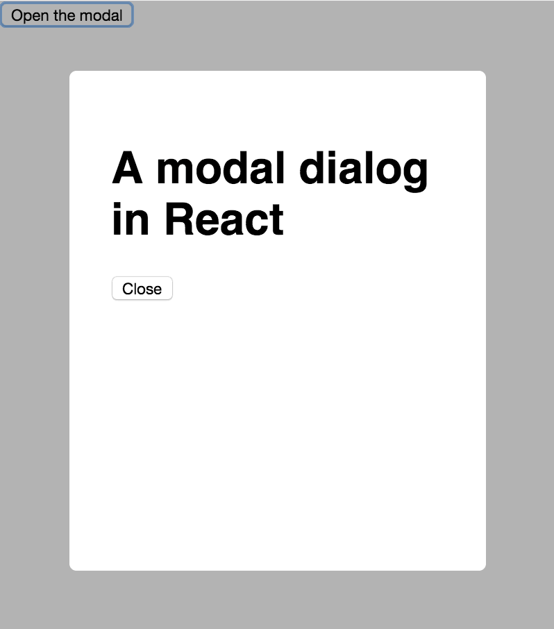 Modal Dialogs in React