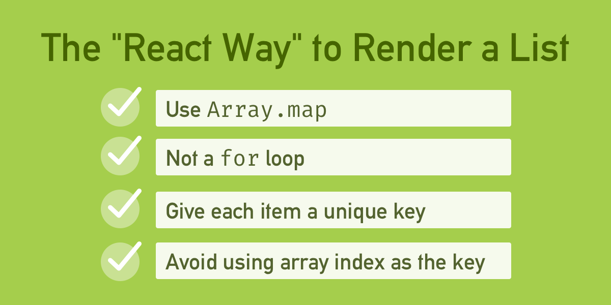 How to Display a List in React