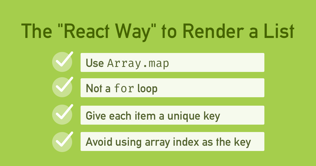 The React Way to Render a List of Items