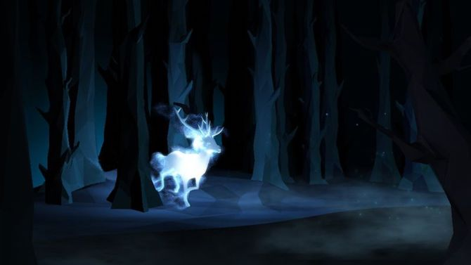 Photo of a patronus charm from Harry Potter